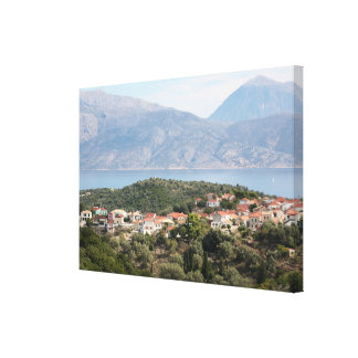 36 x 24 ins Katomeri, Meganissi, Grecia Impresiones En Lona Estiradas