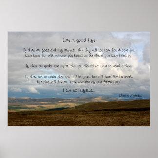 36 x 24 ins Live a good life - Marcus Aurelius Poster