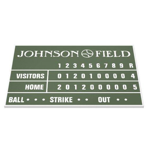 """36"""" x 24"""" marcador del béisbol envolvió la lona impresión en lona"""