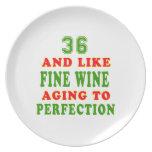 36 y como diseños del cumpleaños del vino fino platos de comidas