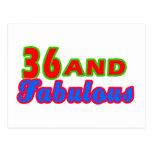 36 y diseños fabulosos del cumpleaños postal