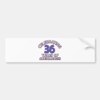 36 year old birthday designs and gifts car bumper sticker