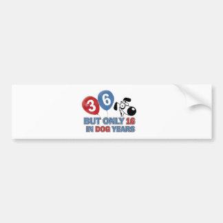 36 year old Dog years designs Bumper Sticker