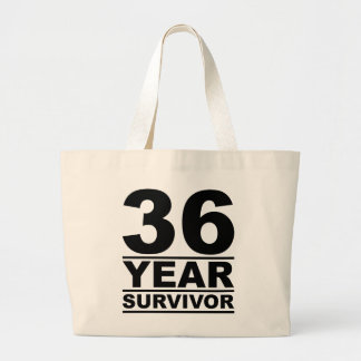 36 year survivor large tote bag