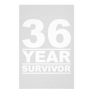 36 year survivor stationery