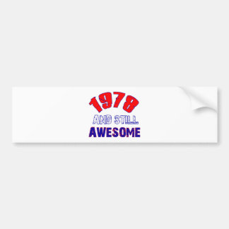 36 years Old birthday designs Car Bumper Sticker