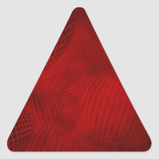 36set4red triangle sticker