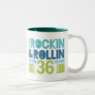 36th Anniversary Wedding Gift Two-Tone Coffee Mug