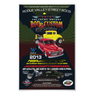 36th Annual SO Rod Custom Show Canvas Poster