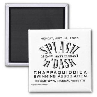 36th Annual Splash 'n' Dash 2 Inch Square Magnet