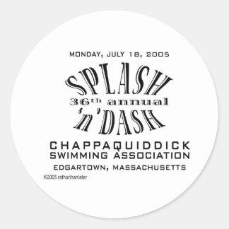36th Annual Splash 'n' Dash Classic Round Sticker