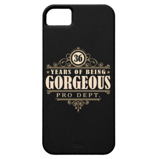 36th Birthday (36 Years Of Being Gorgeous) iPhone SE/5/5s Case