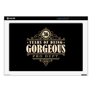 """36th Birthday (36 Years Of Being Gorgeous) Skin For 17"""" Laptop"""