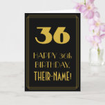 "[ Thumbnail: 36th Birthday – Art Deco Inspired Look ""36"" & Name Card ]"