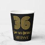"[ Thumbnail: 36th Birthday: Art Deco Inspired Look ""36"" & Name ]"