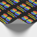[ Thumbnail: 36th Birthday: Bold, Fun, Simple, Rainbow 36 Wrapping Paper ]