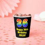 [ Thumbnail: 36th Birthday: Colorful, Fun, Exciting, Rainbow 36 ]