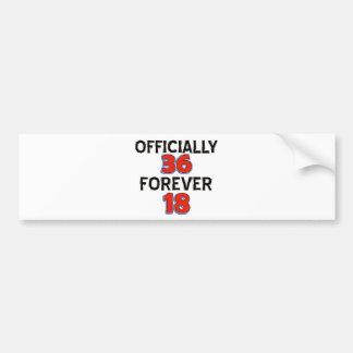 36TH birthday designs Car Bumper Sticker