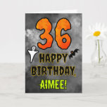[ Thumbnail: 36th Birthday: Eerie Halloween Theme + Custom Name Card ]