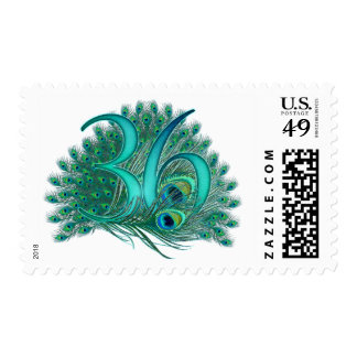36th decorative artistic number stamps postage stamp