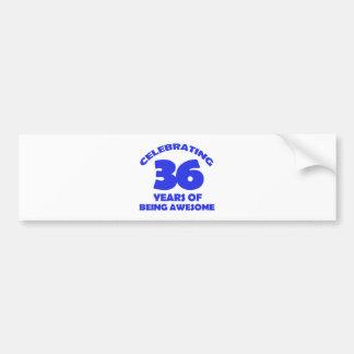 36TH year old designs Car Bumper Sticker
