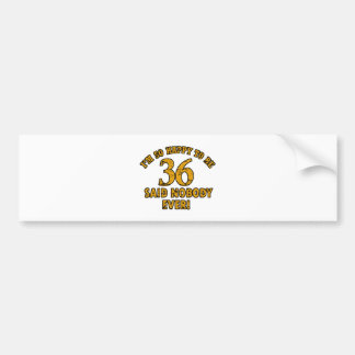 36th year old gifts car bumper sticker