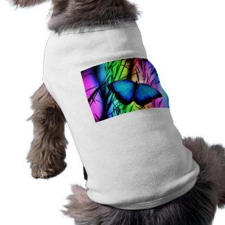 370729 RAINBOW DIGITAL BUTTERFLY REALISM BACKGROUN T-Shirt