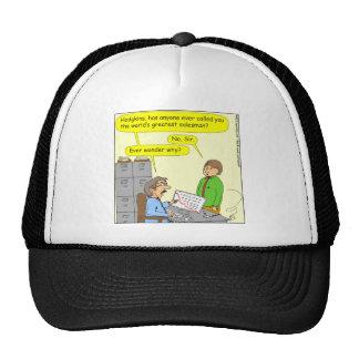 370 worlds greatest salesman cartoon trucker hat