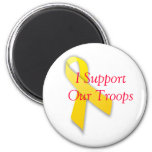370px-Yellow_ribbon.svg, I Support Our Troops Magnet