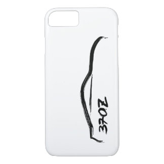 370z Black Silhouette Logo with white background iPhone 7 Case
