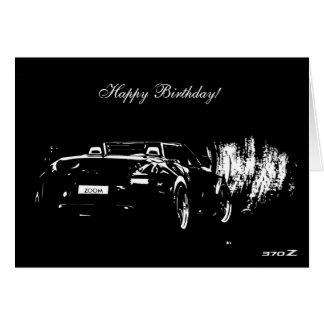 370Z Roadster Car themed Birthday Card
