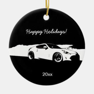 370Z rolling shot Christmas ornaments