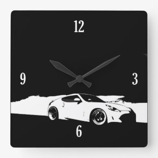 370Z Rolling Shot Square Wall Clock