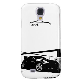 370z with Black Brush Stroke Logo Samsung Galaxy S4 Covers