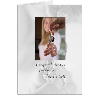 3715 enhorabuena que pasa la licencia de tarjeta de felicitación