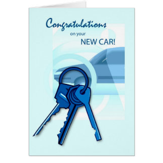 3717 Congratulations on New Car Card