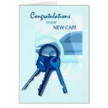 3717 enhorabuena en el nuevo coche tarjetas