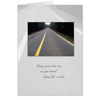 3718 Congratulations on New Car, Road Greeting Card