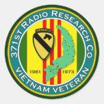 371o RRC 1 - ASA Vietnam Pegatina Redonda