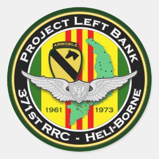 371o RRC PLB 3c - ASA Vietnam Pegatina Redonda