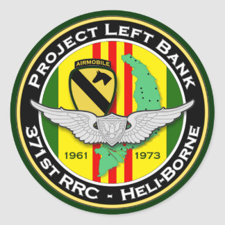 371st RRC PLB 3c - ASA Vietnam Classic Round Sticker