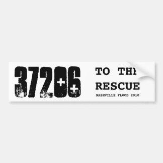37206, TO THE RESCUE, NASHVILLE FLOOD 2010 CAR BUMPER STICKER
