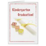 3723 Kindergarten Graduation Greeting Cards