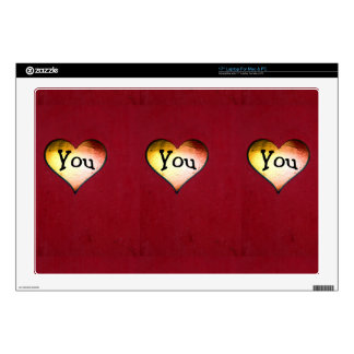 3729 LOVE HEART RED GRUNGE FEELINGS EXPRESSIONS MA DECAL FOR LAPTOP