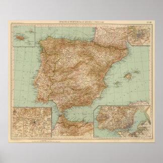 3738 España, Portugal Poster