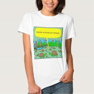 373 turtle stampede cartoon tee shirt
