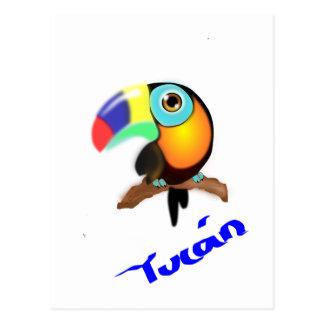 3742-tucan-colombiano-vector COLORFUL TROPICAL CAR Postcard