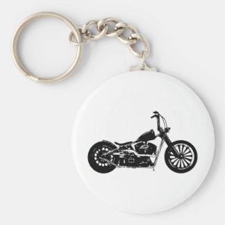 374 Chopper Bike Basic Round Button Keychain