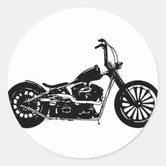 374 Chopper Bike Classic Round Sticker