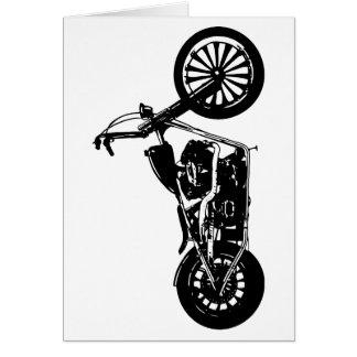 374 Chopper Bike Greeting Card